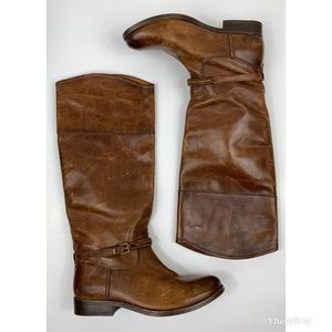 Frye Melissa Brown Knee High Leather Boots 5.5